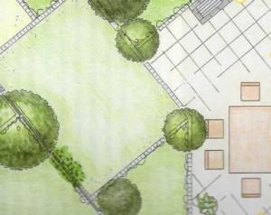 Общее планирование сада, фото
