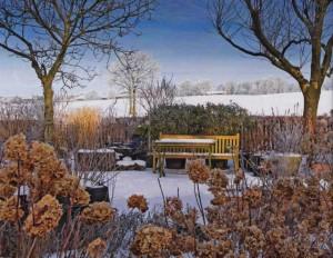 февраль в саду, фото
