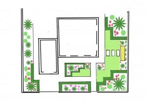 схема палисадника в регулярном стиле