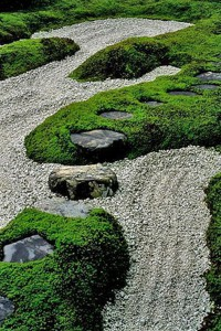 Валуны в саду, фото