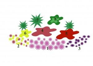 схема цветника с однолетниками