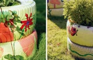 клумбы в огороде, фото