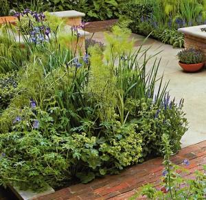 Площадки и мощения в саду, фото