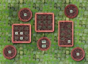 План размещения растений в контейнерах, фото
