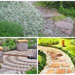 Материалы, используемые для мощений в саду